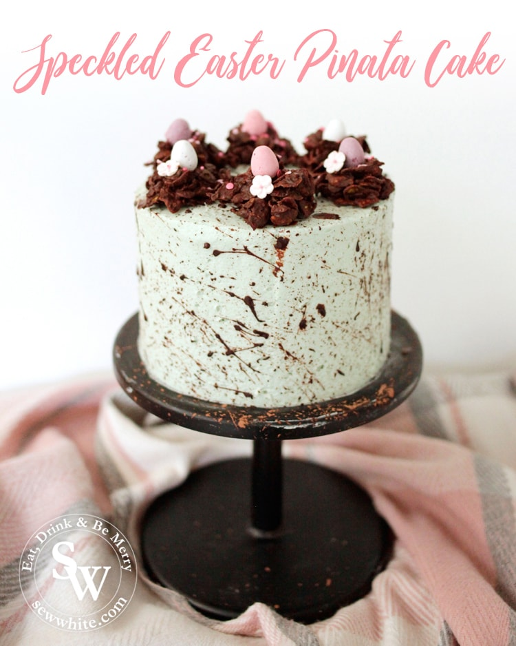 Speckled Easter Pinata Cake